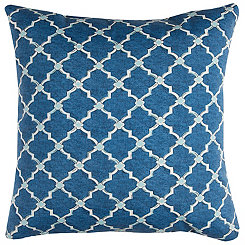 Blue Quatrefoil Outdoor Pillow