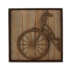 Metal Bicycle Front Wall Plaque