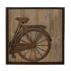 Metal Bicycle Rear Wall Plaque