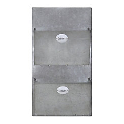 Wall shelves wall shelving kirklands for Galvanized letter holder