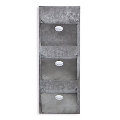 Galvanized Metal Mail Organizer