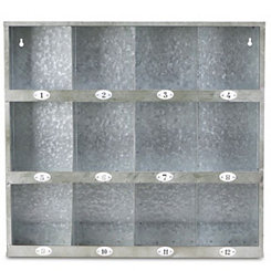 Galvanized Metal Wall Cubby