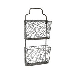 Abstract Metal Wall Hanging Organizer