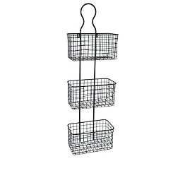 Black Metal Wire Wall Hanging Organizer