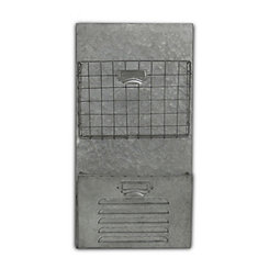 Galvanized Wire and Metal Wall Storage