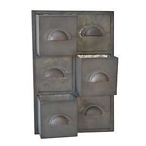 Gray Galvanized Wall Storage