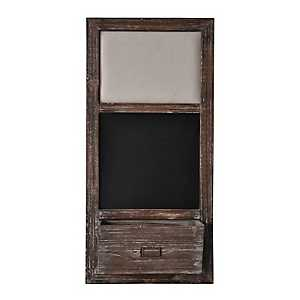 Rustic Wood Chalkboard and Pinboard
