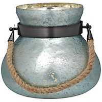 Blue Matka Mercury Glass Lantern