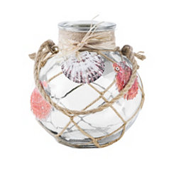 St. Thomas Clear Seashell Lantern, 7.25 in.