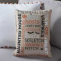 Halloween Typography Pillow