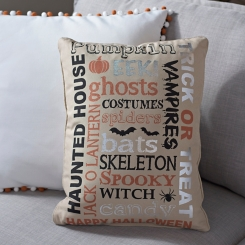 Halloween Typography Pillow