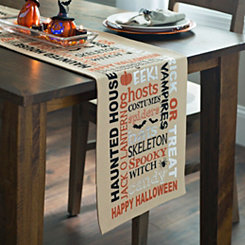 Halloween Typography Table Runner