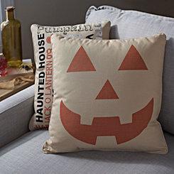 Jute Jack O' Lantern Pillow
