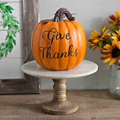 Give Thanks Resin Pumpkin