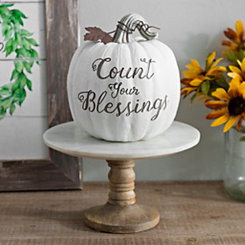 Count Your Blessings Resin Pumpkin