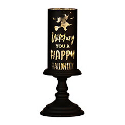 Witching You A Happy Halloween LED Candlestick