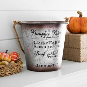 Galvanized Harvest Bucket