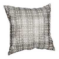 Maxi Silver Plaid Pillow