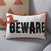 Beware Halloween Pillow