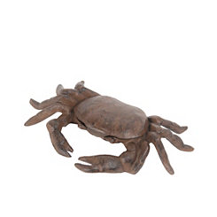Rust Brown Crab Statue