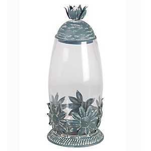 Star Leaf Metal and Glass Jar