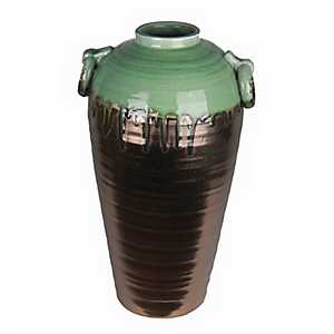 Green and Copper Ceramic Vase