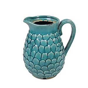 Small Turquoise Ceramic Pitcher