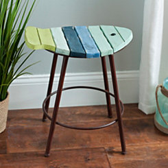 Painted Fish Counter Stool
