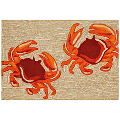 Red Crab Scatter Rug