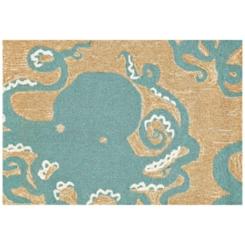 Blue Octopus Scatter Rug