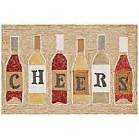 Cheers Wine Bottle Scatter Rug