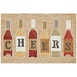 Cheers Wine Bottle Scatter Rug