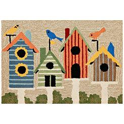 Birdhouses Scatter Rug