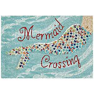 Mermaid Crossing Scatter Rug