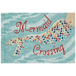 Mermaid Crossing Scatter Rug