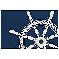 Ship Wheel Scatter Rug
