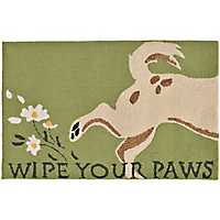 Wipe Your Paws Dog Scatter Rug