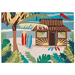Beach Shack Scatter Rug