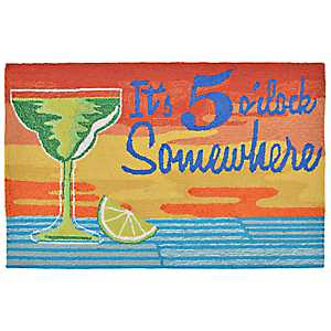 It's 5 O'Clock Somewhere Scatter Rug