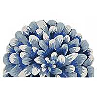 Blue Bloom Scatter Rug
