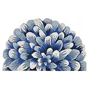 Blue Bloom Scatter Rug