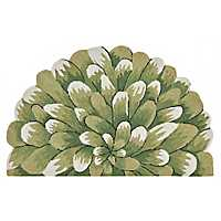 Green Bloom Scatter Rug