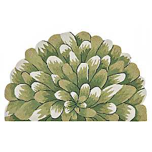 Green Bloom Scatter Rug