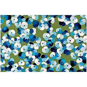Blue Floral Dot Doormat