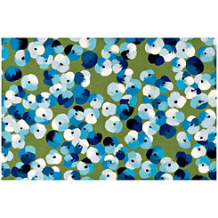 Blue Floral Dot Doormat