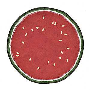 Watermelon Scatter Rug