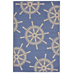 Antilles Ship Wheel Area Rug, 5x8