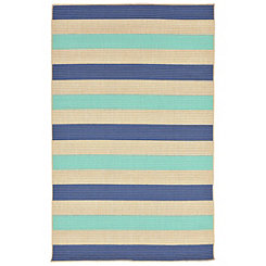 Antilles Blue Stripe Area Rug, 5x8
