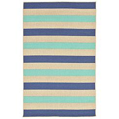 Antilles Blue Stripe Area Rug, 5x8