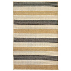 Antilles Gray Stripe Area Rug, 5x8